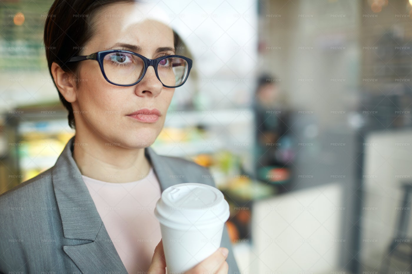 Female With Drink: Stock Photos