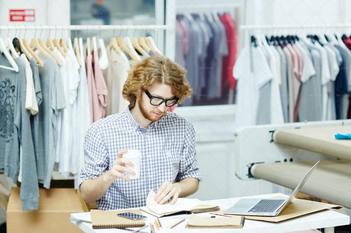 Designer At Work: Stock Photos