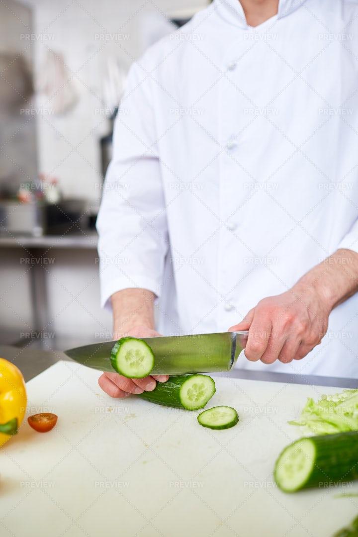 Slicing Cucumber: Stock Photos