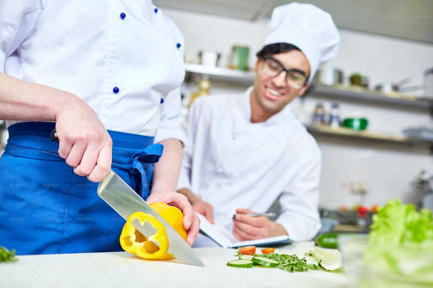 Course Of Cooking: Stock Photos