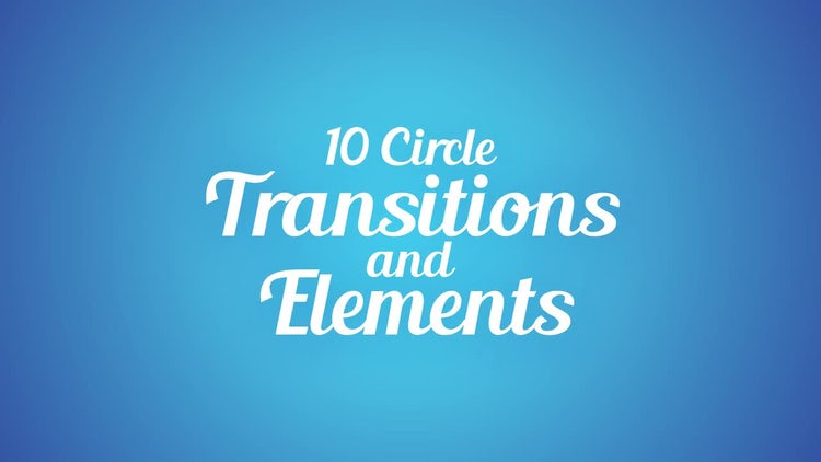 Circle Transitions and Elements: After Effects Templates