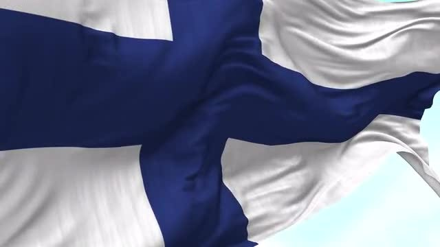 Finland Flag Animation: Stock Motion Graphics