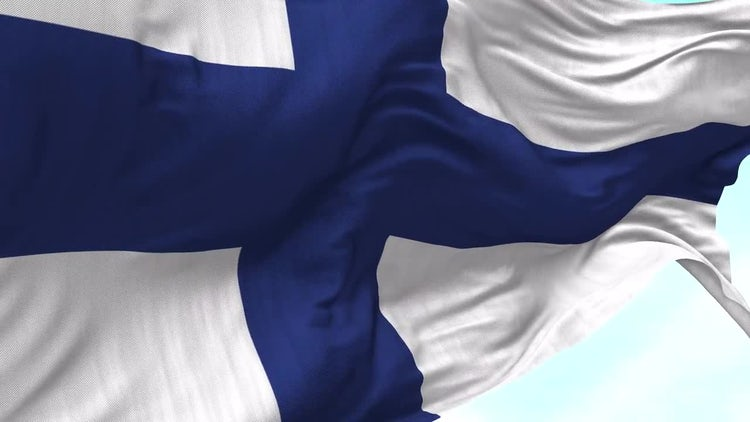 Finland Flag Animation: Motion Graphics
