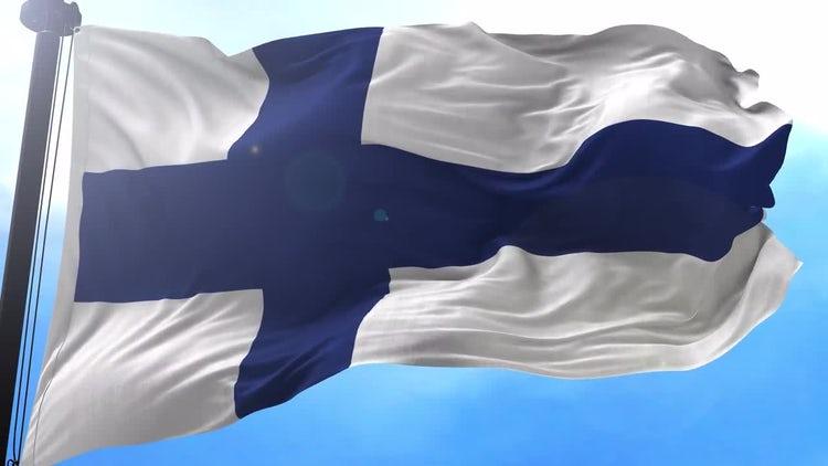 Finland Flag Animation: Motion Graphics