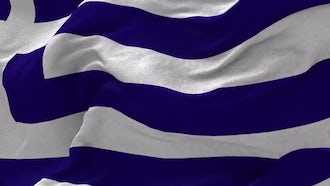 Greece Flag Animation: Motion Graphics