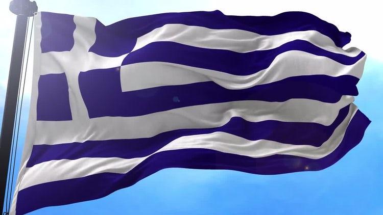 Greece Flag Animation: Stock Motion Graphics