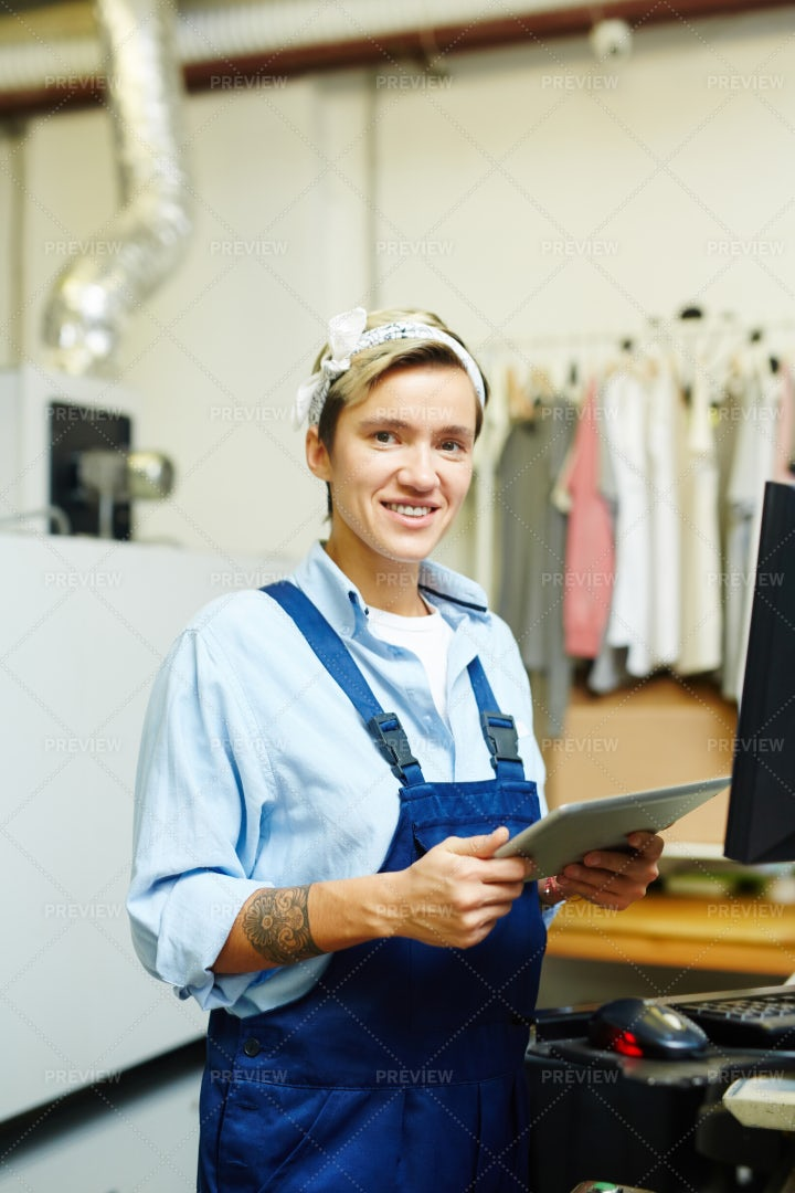 Worker In Printing House: Stock Photos