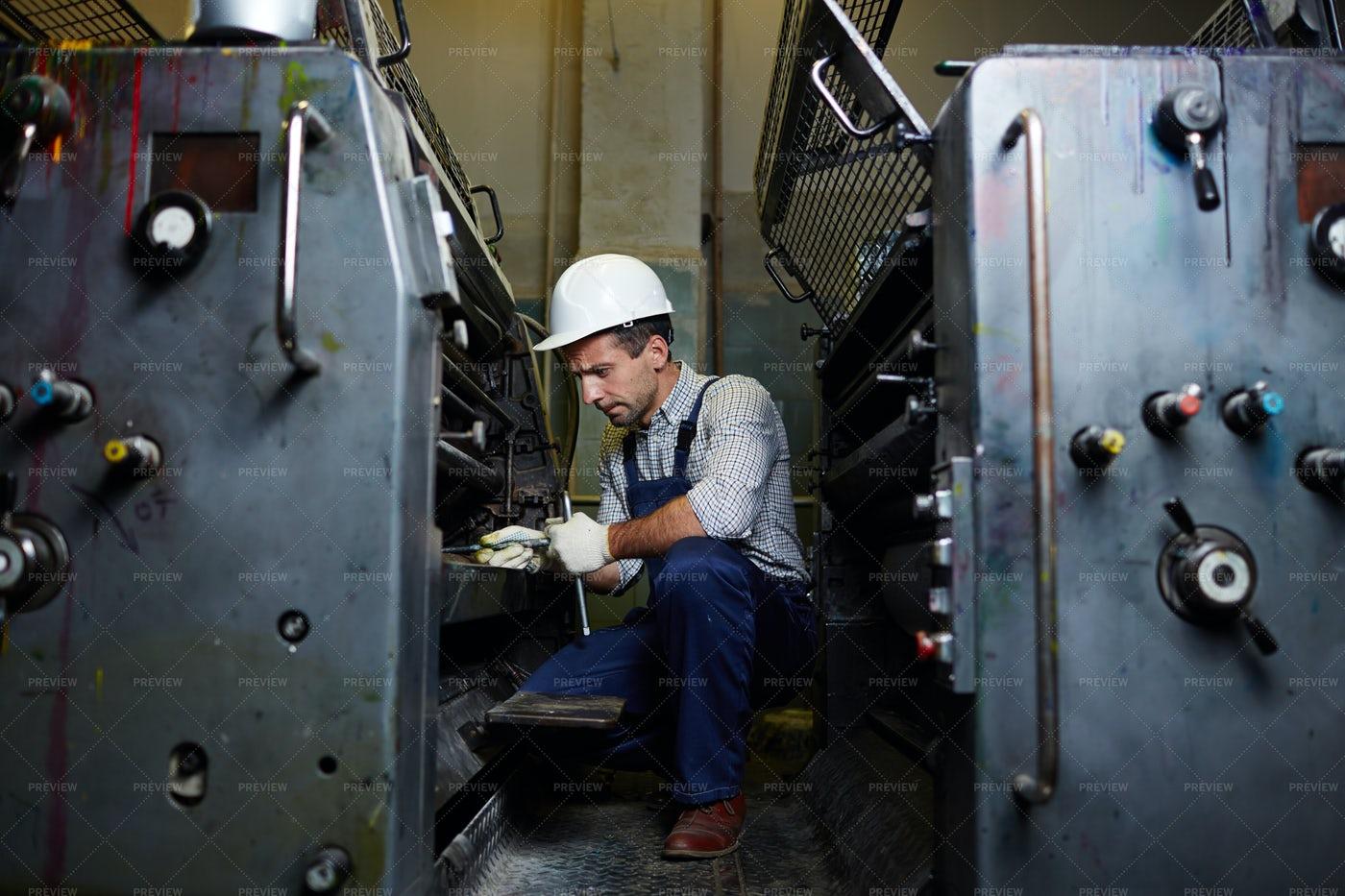 Repairman At Work: Stock Photos