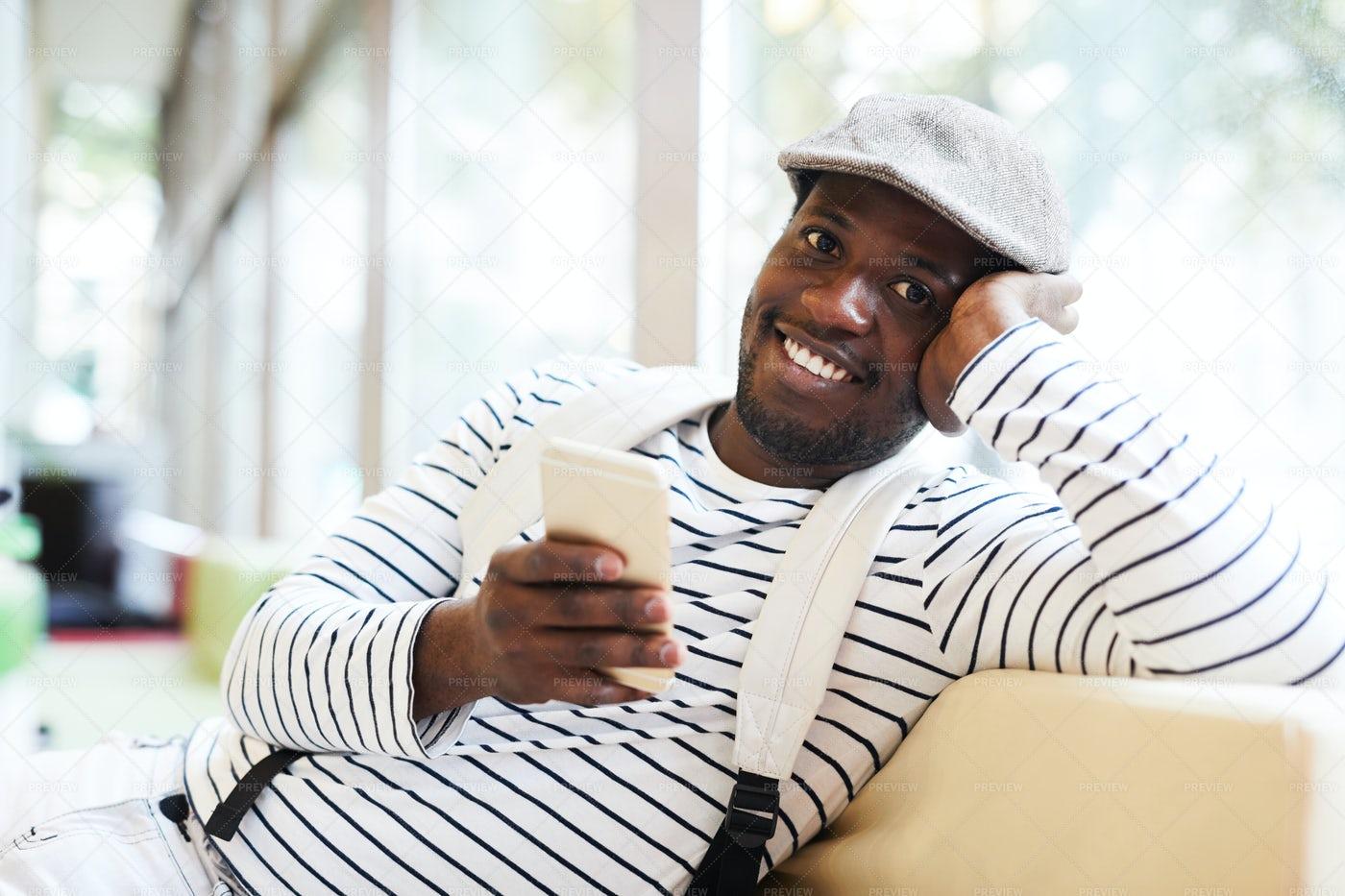 Texting At Break: Stock Photos