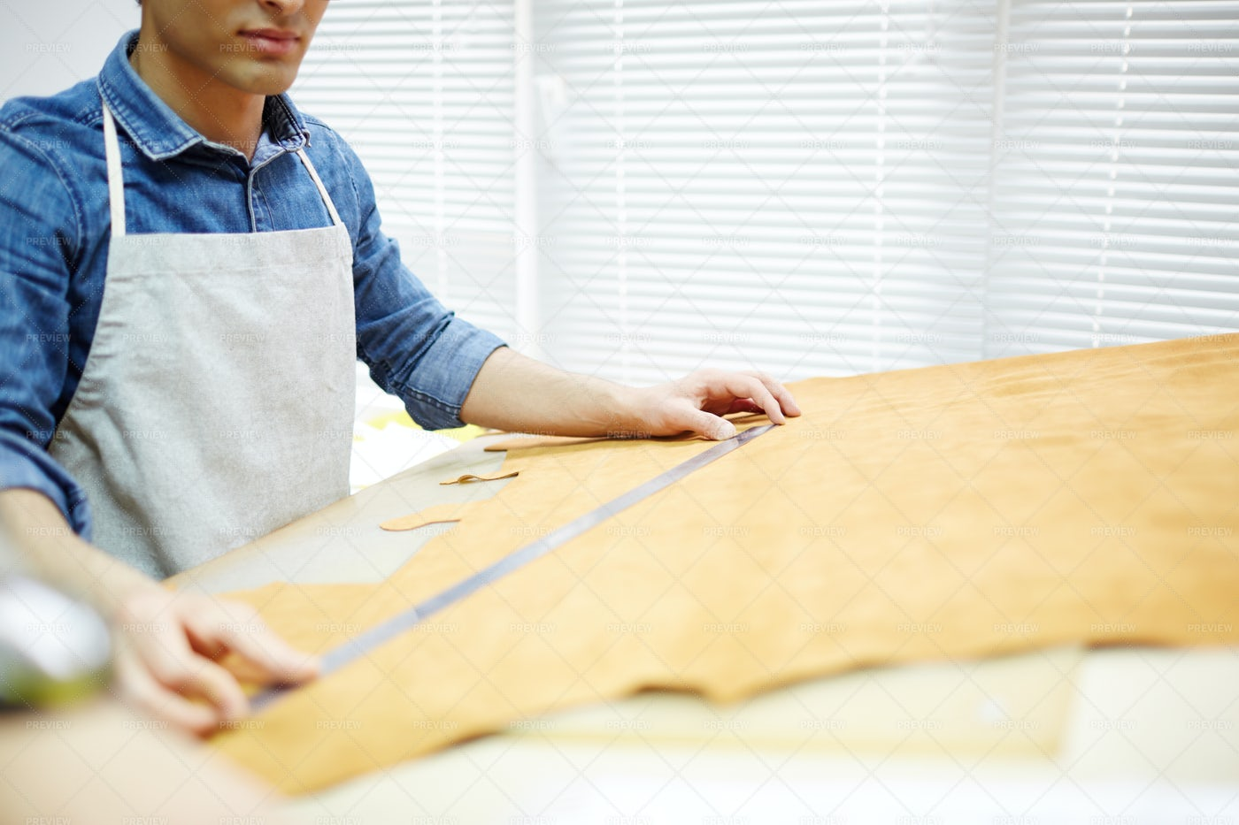 Cobbler Taking Measures: Stock Photos