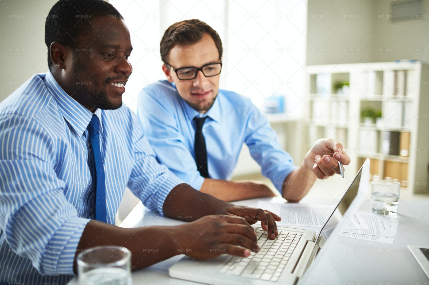Teamwork Of Financial Managers: Stock Photos