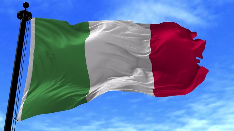 Italian Flag Animation: Stock Motion Graphics