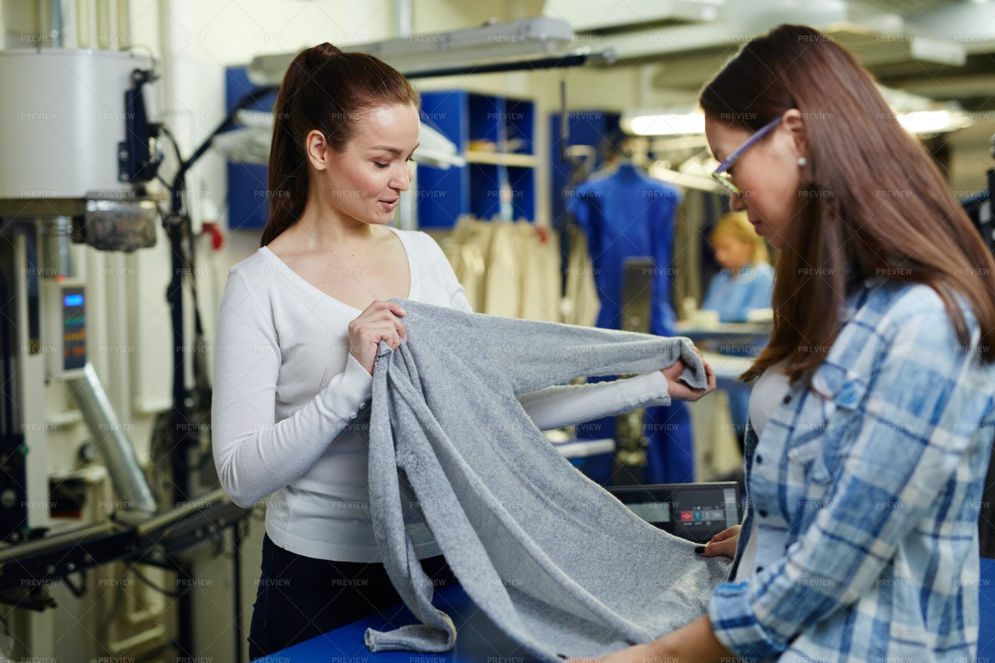 Pullover For Dry Cleaning: Stock Photos