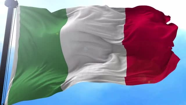 Italian Flag Animation Stock Motion Graphics