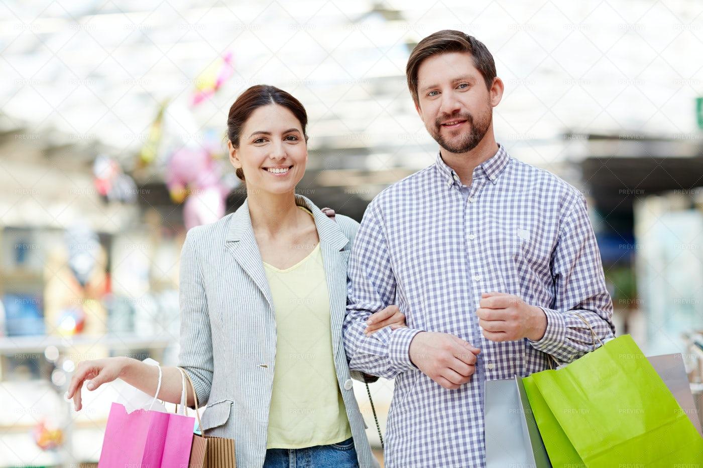 Shoppers In Trade Center: Stock Photos