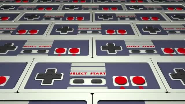 Retro Gamepad: Stock Motion Graphics