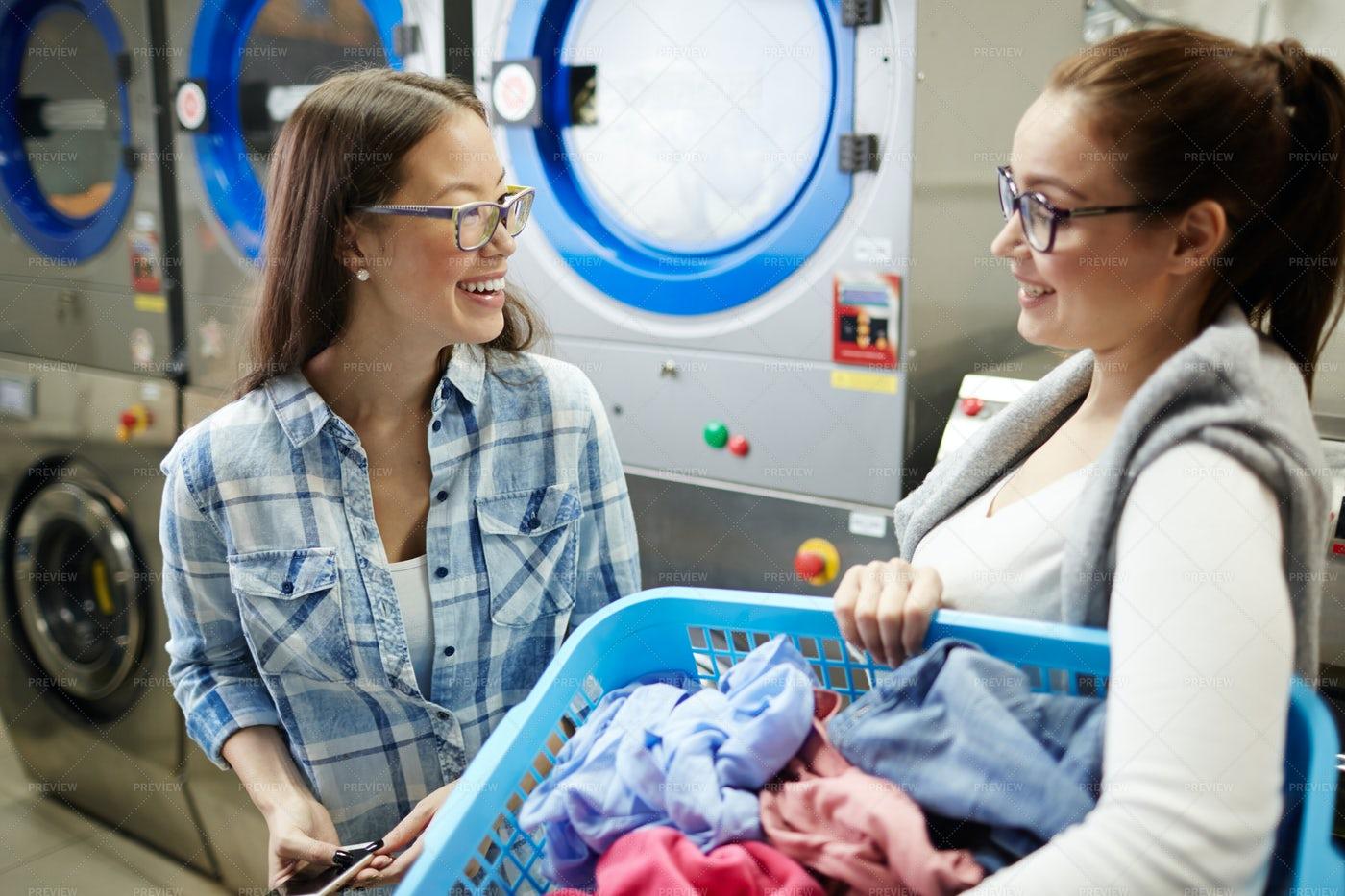 Talk In Laundry: Stock Photos