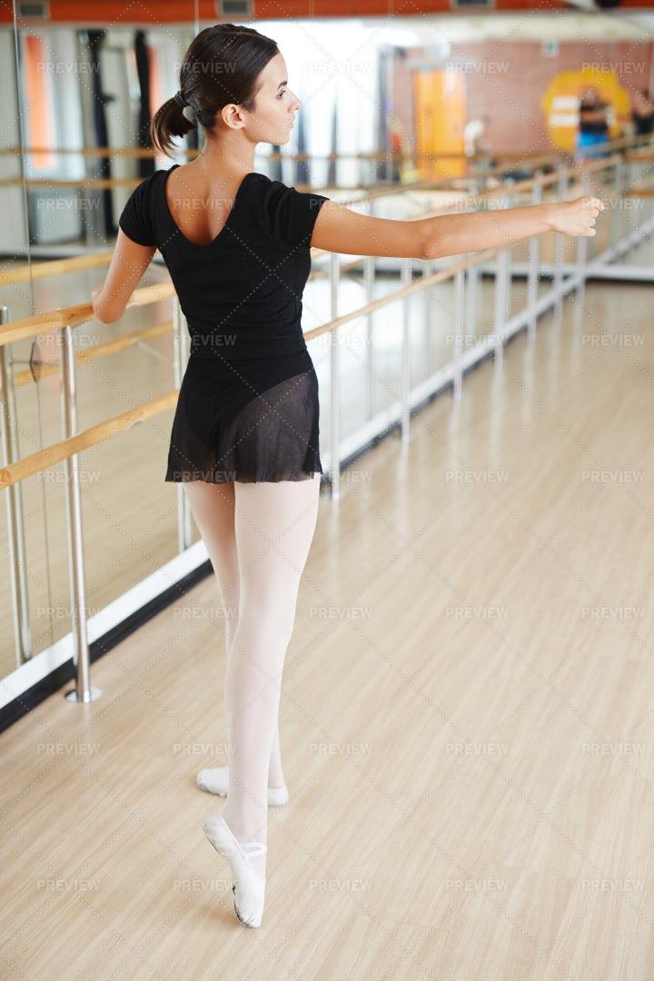 Girl In Ballet Class: Stock Photos