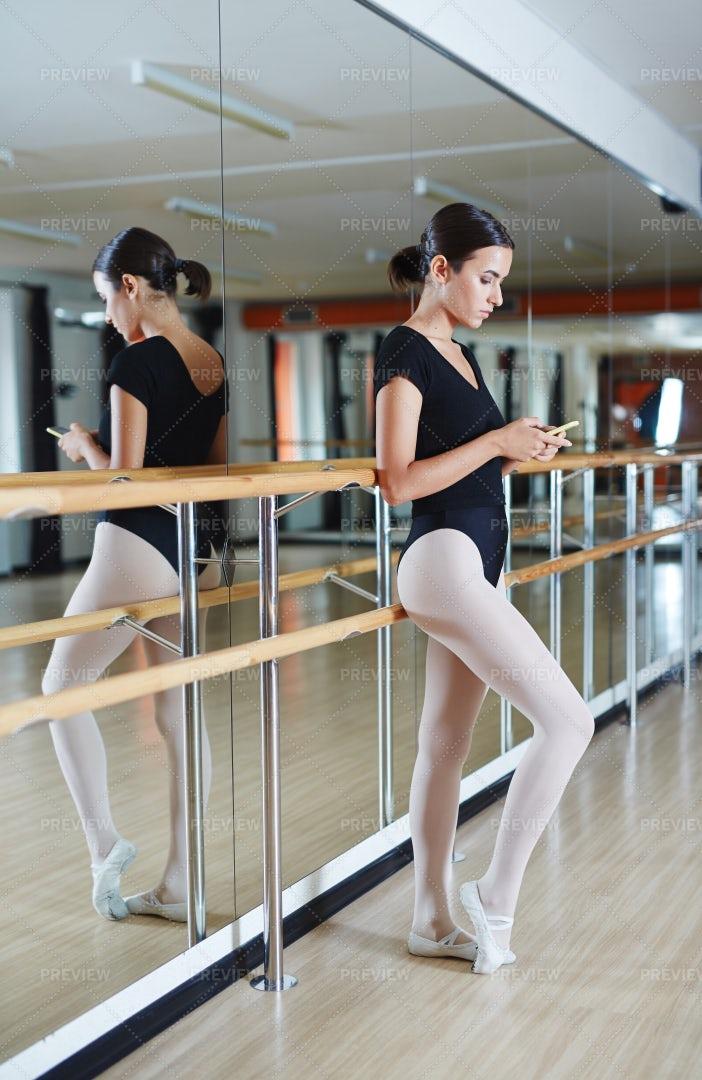Texting Ballerina: Stock Photos