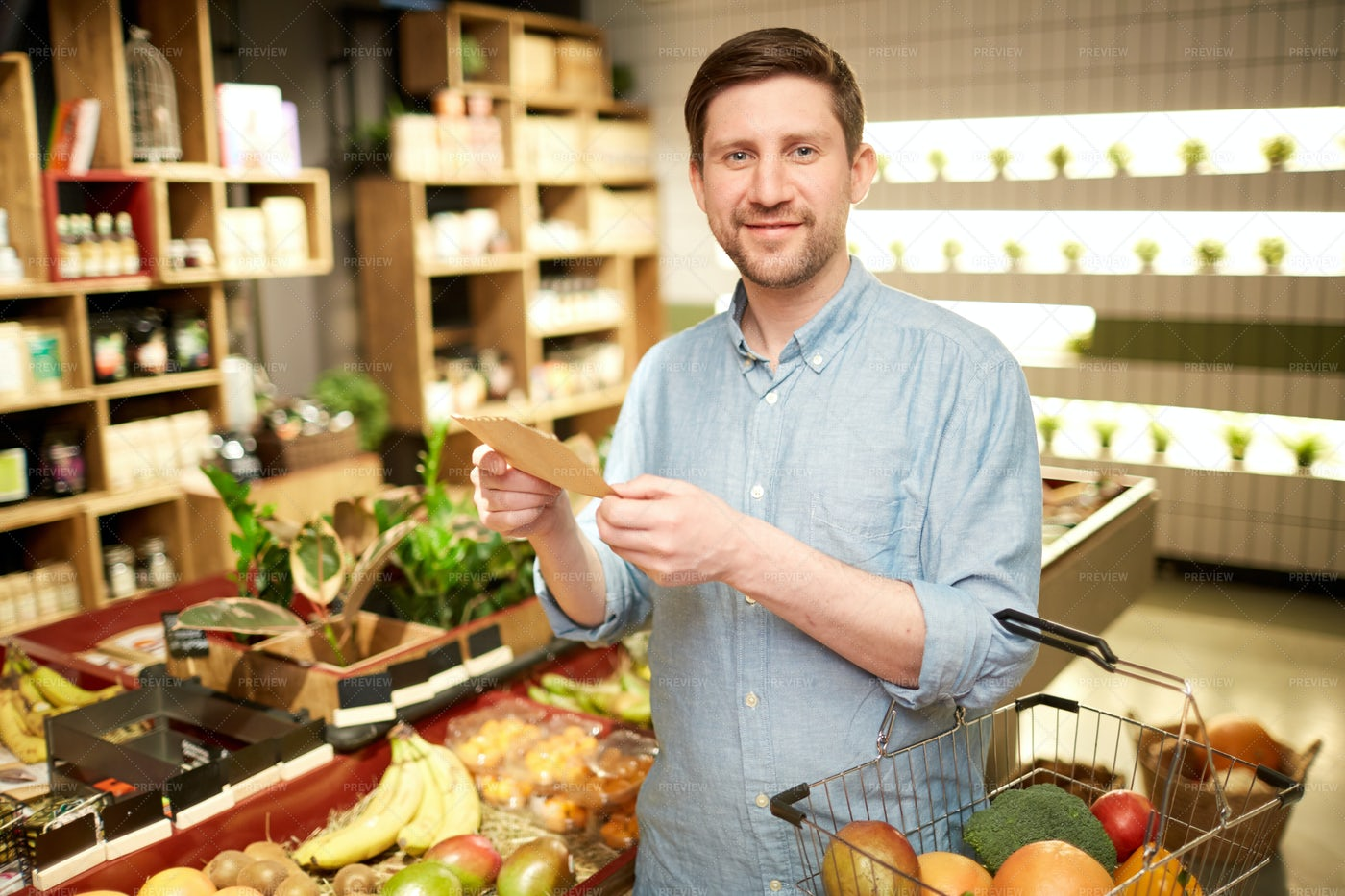 Buying Fruits And Vegetables: Stock Photos