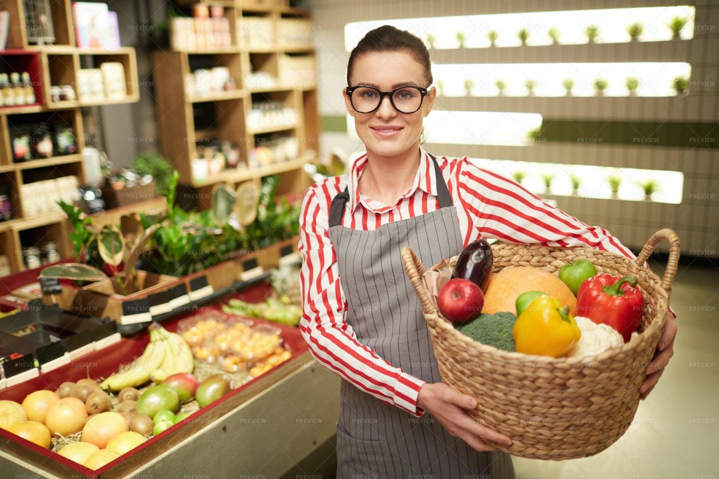 Friendly Shop Assistant: Stock Photos