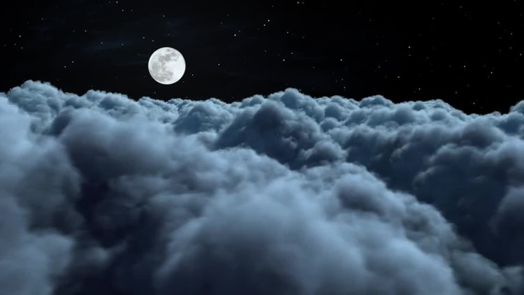 Fly Above The Night Clouds: Motion Graphics