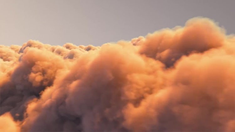 Above The Sunset Clouds: Stock Motion Graphics