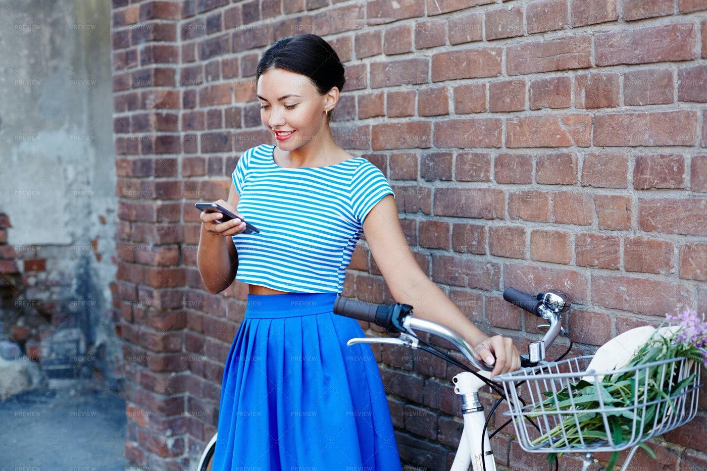 Girl Messaging: Stock Photos