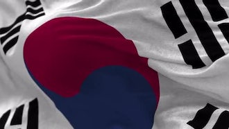South Korea Flag Animation: Motion Graphics
