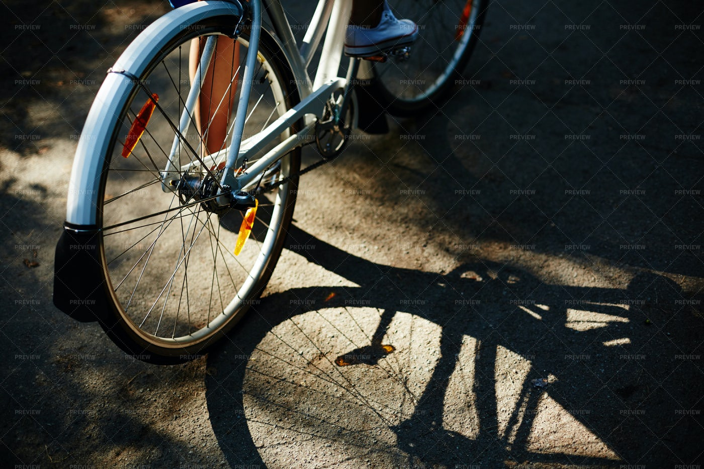 Shade Of Bicycle: Stock Photos