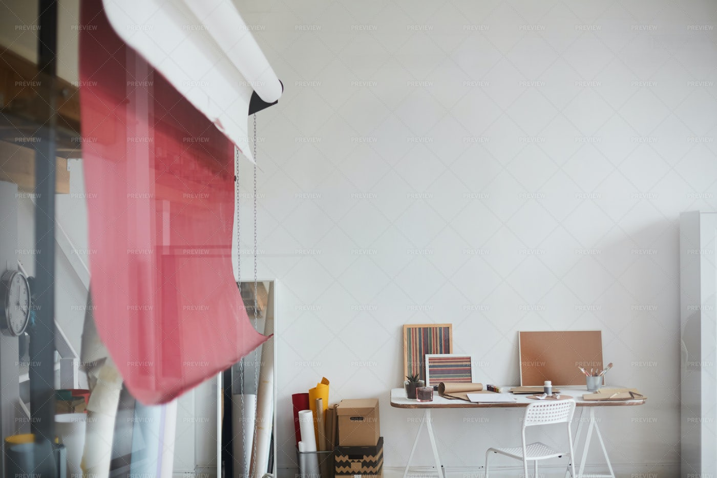 Workplace Of Artist: Stock Photos