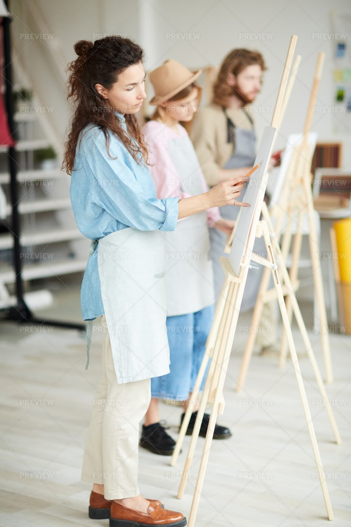 Students Painting: Stock Photos