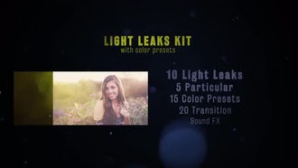 Light Leaks with Color Presets: After Effects Templates