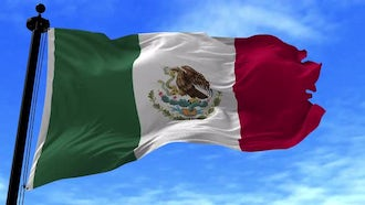 Mexico Flag Animation: Motion Graphics