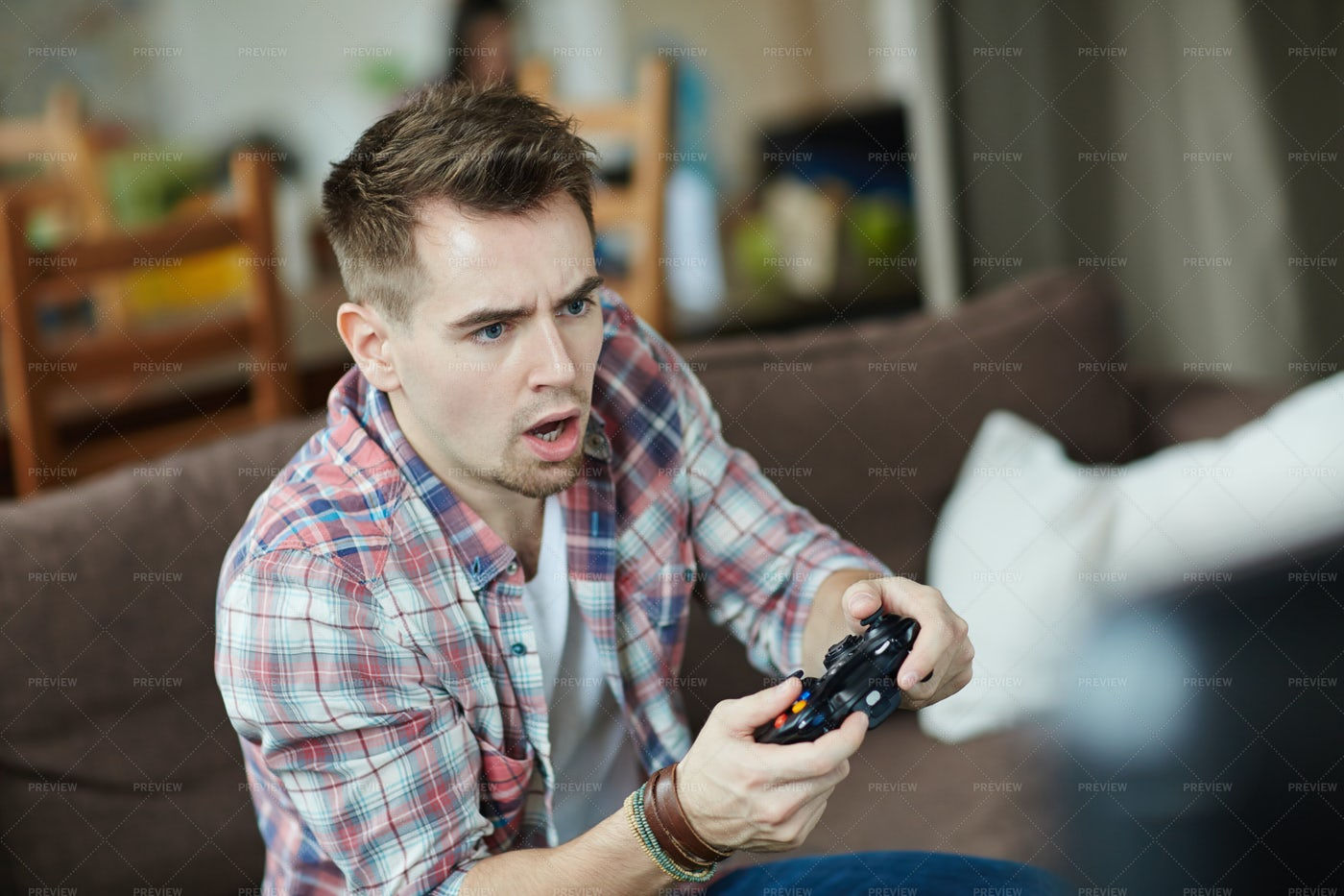 Adult Video Game Player: Stock Photos