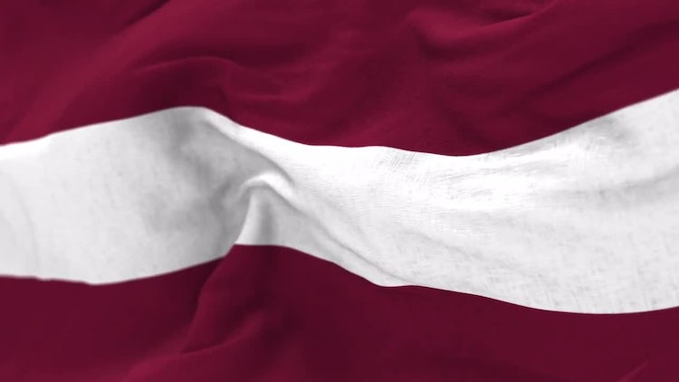 Latvia Flag Animation: Stock Motion Graphics
