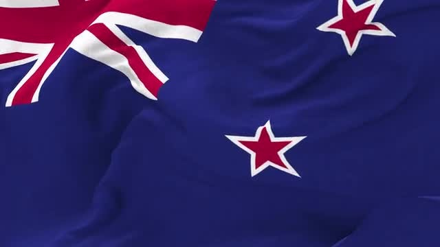 New Zealand Flag Animation: Stock Motion Graphics