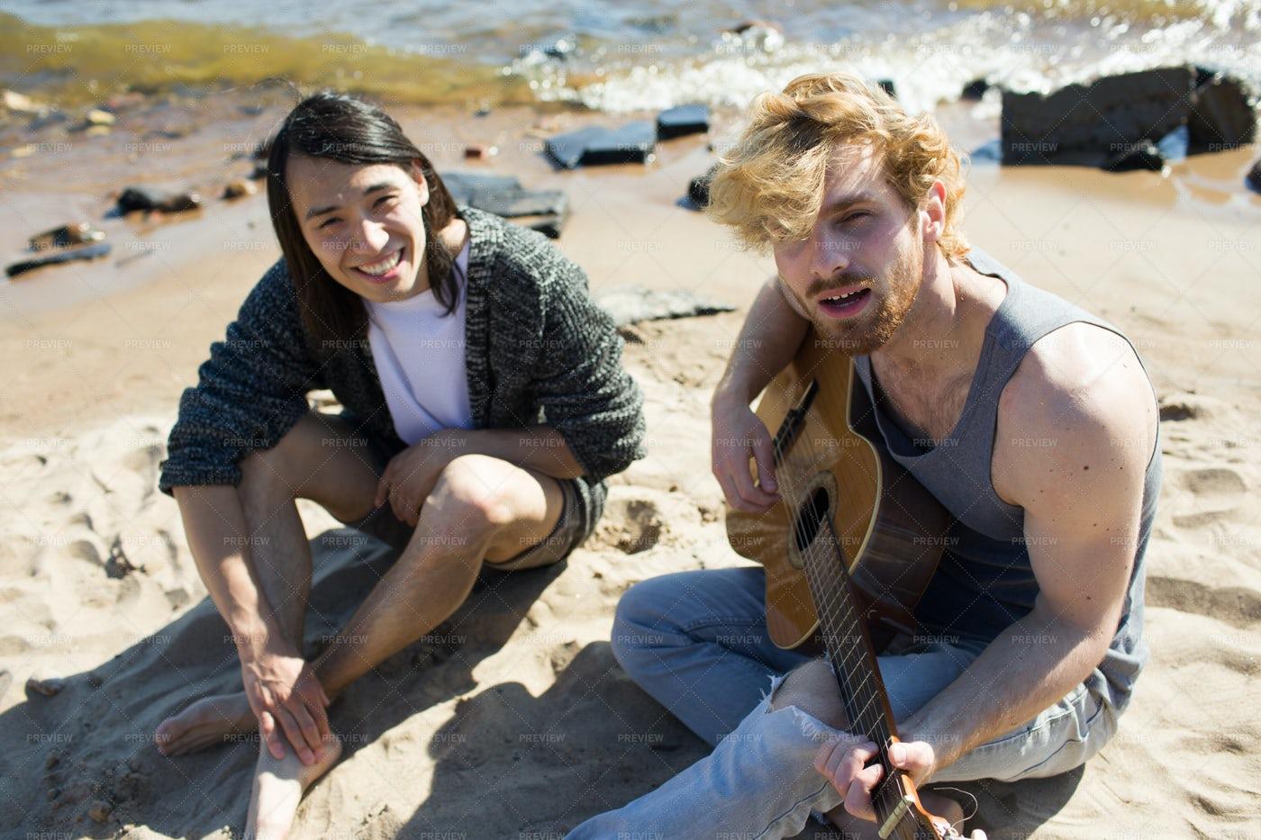 Singing On Sand: Stock Photos