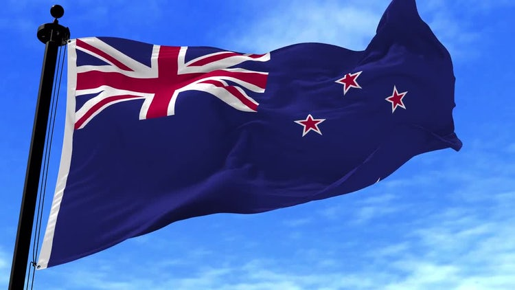 New Zealand Flag Animation: Stock Motion Graphics
