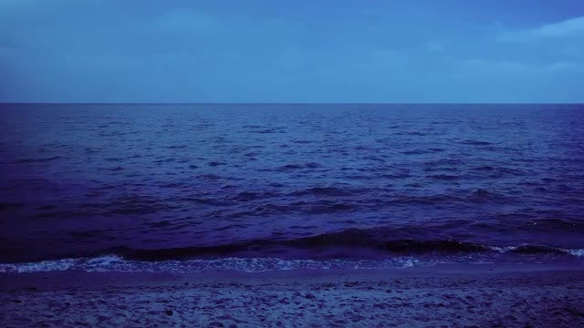 Night Sea: Stock Video