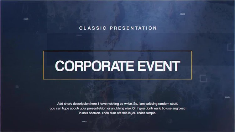 Corporate Event: After Effects Templates