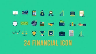 24 Financial Icons: After Effects Templates
