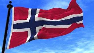 Norway Flag Animation: Motion Graphics