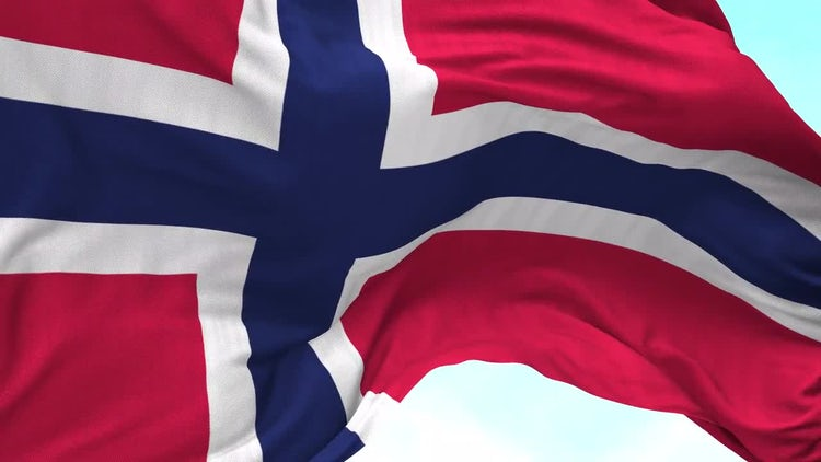 Norway Flag Animation: Stock Motion Graphics