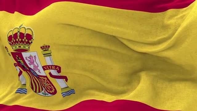 Spain Flag Animation: Stock Motion Graphics