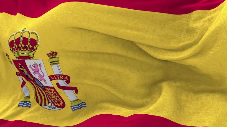Spain Flag Animation: Stock Motion Graphics