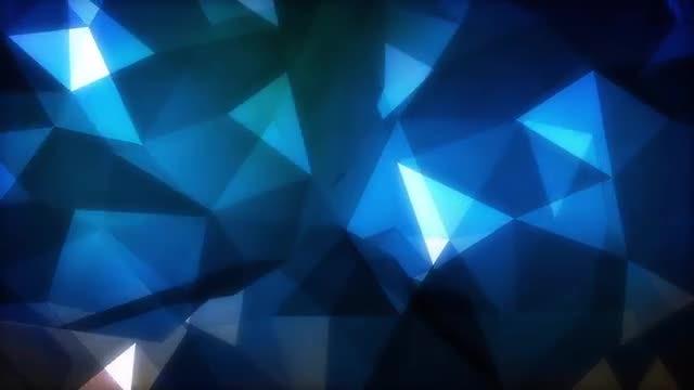 Dark Blue Polygons Background: Stock Motion Graphics
