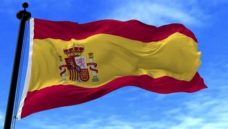 Spain Flag Animation: Motion Graphics