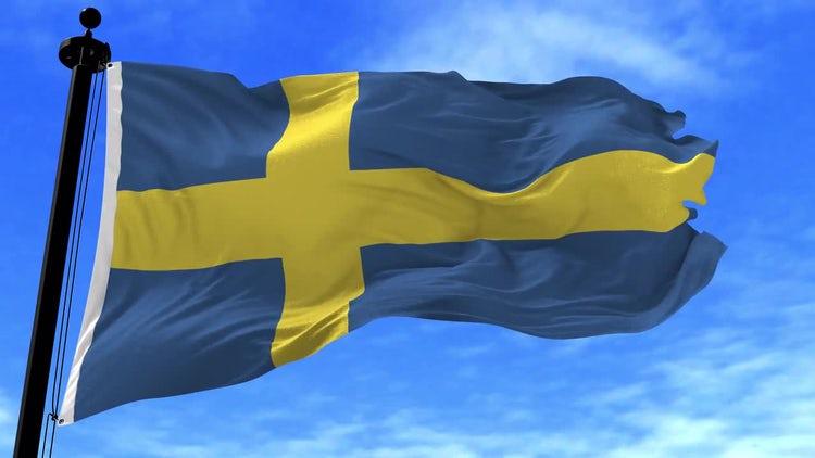 Sweden Flag Animation: Motion Graphics