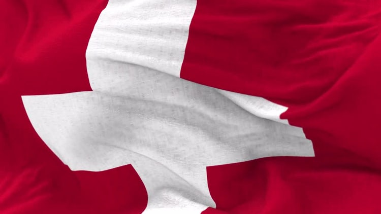 Switzerland Flag Animation: Stock Motion Graphics